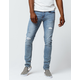 RSQ Tokyo Super Skinny Mens Ripped Stretch Jeans