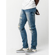 RSQ Seattle Rip N Repair Mens Skinny Tapered Jeans