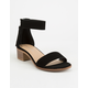 CITY CLASSIFIED Block Black Womens Heeled Sandals