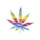 Tie Dye Cannabis Leaf Decal
