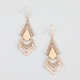FULL TILT Epoxy Triangle Earrings