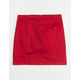 WHITE FAWN Red Stretch Girls Twill Skirt