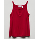 FULL TILT Solid Henley Girls Tank Top