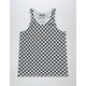 BROOKLYN CLOTH Checkered Black Mens Tank Top
