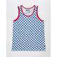 BROOKLYN CLOTH Checkered Blue Mens Tank Top