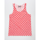 BROOKLYN CLOTH Checkered Red Mens Tank Top