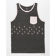 BLUE CROWN Flamingo Mens Pocket Tank Top