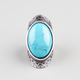 FULL TILT Large Turquoise Oval Ring