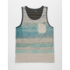 LOST Rally Blue Mens Tank Top