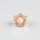 FULL TILT Acrylic Rhinestone Rose Ring