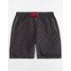 LA FAMILIA Dark Checkered Mens Shorts