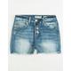 INDIGO REIN Exposed Button Girls Denim Shorts