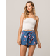 IVY & MAIN Floral Tie Front Womens Wrap Shorts