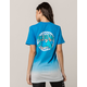PINK DOLPHIN Checkered Ombre Womens Tee