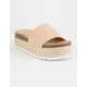 DIRTY LAUNDRY Pippa Espadrille Tan Womens Platform Sandals