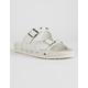 DIRTY LAUNDRY Quinn Shimmer White Womens Sandals