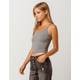 BOZZOLO Ribbed Racerback Heather Gray Womens Tank Top