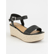 CITY CLASSIFIED Espadrille Black Womens Platform Sandals