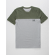 UNDER ARMOUR Color Block Army Mens T-Shirt
