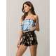 SKY & SPARROW Floral Womens Shorts