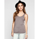 FULL TILT Essential Womens Double Scoop Tank