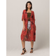 SKY AND SPARROW Floral Maxi Womens Duster