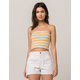SKY AND SPARROW Marrow Stripe Womens Tube Top