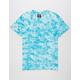 SUPER MASSIVE Blue Crystal Wash Curved Hem Mens T-Shirt