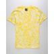 SUPER MASSIVE Lemon Crystal Wash Curved Hem Mens T-Shirt