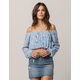 ELODIE Floral Off The Shoulder Womens Crop Top