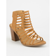 SODA Caged Tan Womens Heeled Sandals