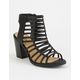 SODA Caged Black Womens Heeled Sandals