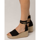 QUPID Scallop Espadrille Womens Wedges