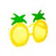 SUNNYLIFE Pineapple Sunglasses