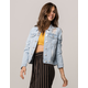 SKY AND SPARROW Ripped Womens Denim Jacket