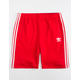 ADIDAS 3 Stripes Red Mens Sweat Shorts