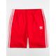 ADIDAS 3 Stripes Red Mens Sweat Shorts
