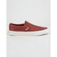 VANS Leather Burnt Henna & Blanc de Blanc Classic Slip-On Shoes