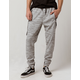 BROOKLYN CLOTH Light Grey Mens Jogger Pants