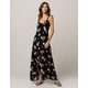 IVY & MAIN Floral Button Front Maxi Dress