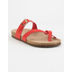 MADDEN GIRL Paamy Red Paris Womens Sandals
