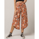 SKY AND SPARROW Floral Womens Culotte Pants