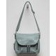 VIOLET RAY Foldover Teal Blue Crossbody Bag