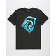 PINK DOLPHIN Splash Emboss Black Mens T-Shirt