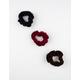 FULL TILT 3 Pack Dark Velvet Scrunchies