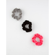 FULL TILT 3 Pack Bright Velvet Scrunchies