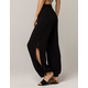BEBOP Side Slit Black Womens Pants