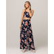 GOOD LUCK GEM Floral Womens Crop Tank Top & Maxi Skirt Set
