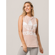 ADIDAS Trefoil Pink & White Womens Muscle Tank Top