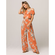 TAYLOR & SAGE Floral Womens Off The Shoulder Top And Pants Set